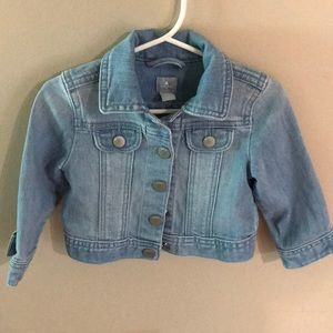 Baby gap girls jean jacket size 12-18 months